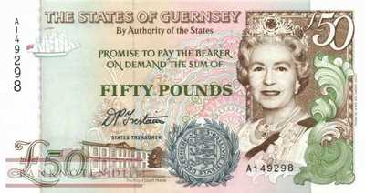 Guernsey - 50  Pounds (#059_UNC)