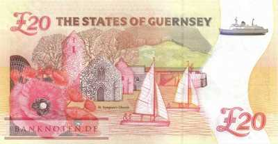 Guernsey - 20  Pounds - 100th Anniversary of The Great War (#063_UNC)