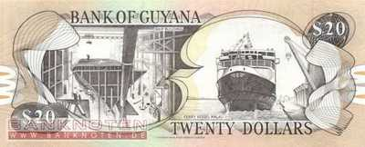 Guyana - 20  Dollars - Canadian Bank Note Company (#030e-2_UNC)
