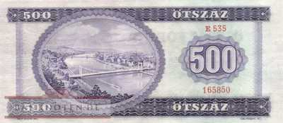 Ungarn - 500  Forint (#172a_XF)
