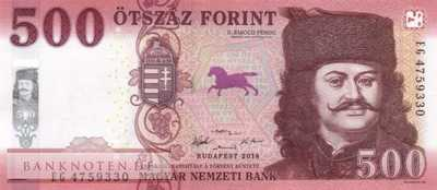 Hungary - 500  Forint (#202a_UNC)