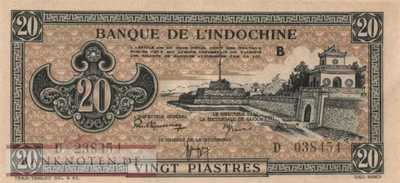 Indochina - 20  Piastres (#071_AU)
