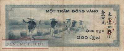 Indochina - 100  Piastres (#078a_F)