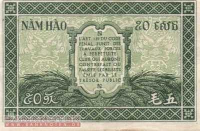 Indochina - 50  Cents (#091a_XF)