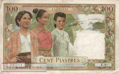 Indochina - 100  Piastres (#103_F)