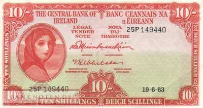 Ireland - 10  Shillings (#063a-63_XF)
