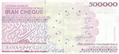 Iran - 500.000  Rials - with stamp (#901-U4-S_UNC)