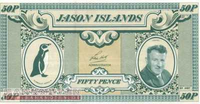Jason Islands - 50  Pence - private issue (#901_UNC)