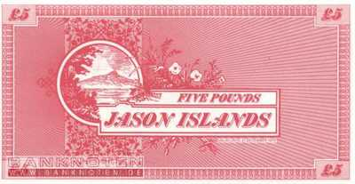 Jason Islands - 5  Pounds - private issue (#903_UNC)