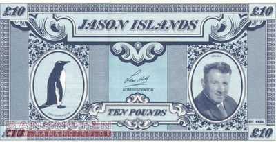 Jason Islands - 10  Pounds - private issue (#904_UNC)