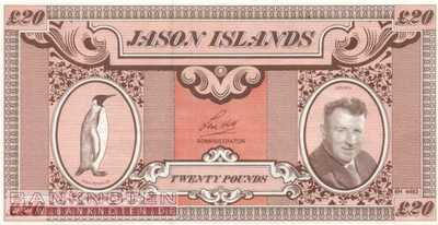 Jason Islands - 20  Pounds - private issue (#905_UNC)
