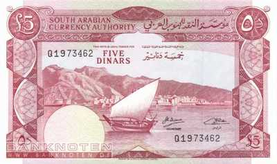 Jemen Democratic Republic - 5  Dinars (#004b_UNC)