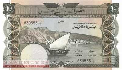 Jemen Democratic Republic - 10  Dinars (#009b_UNC)