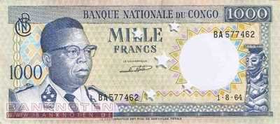 Congo, Democratic Republic - 1.000  Francs (#008aP_UNC)