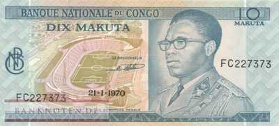 Congo, Democratic Republic - 10  Makuta (#009a-70_UNC)