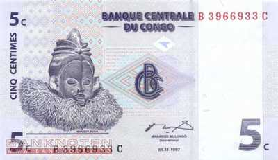 Congo, Democratic Republic - 5 Centimes (#081a_UNC)