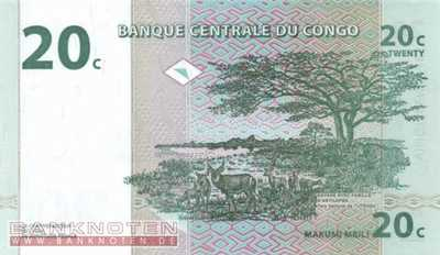 Congo, Democratic Republic - 20  Centimes (#083a_UNC)