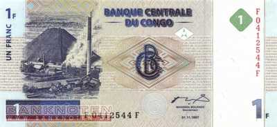 Congo, Democratic Republic - 1  Franc (#085a_UNC)