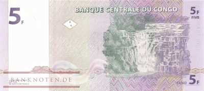 Congo, Democratic Republic - 5  Francs (#086A_UNC)
