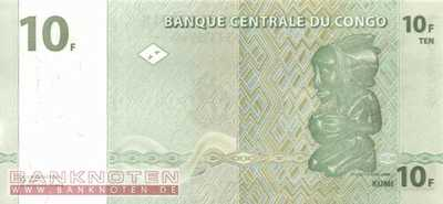 Congo, Democratic Republic - 10  Francs (#087B_UNC)