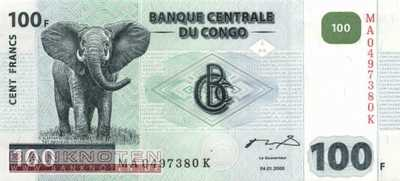 Congo, Democratic Republic - 100  Francs (#092A_UNC)