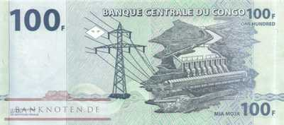 Congo, Democratic Republic - 100  Francs (#098b_UNC)