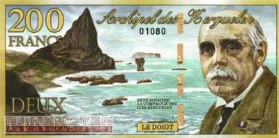 Kerguelen - 200  Francs - private issue (#A2a_UNC)