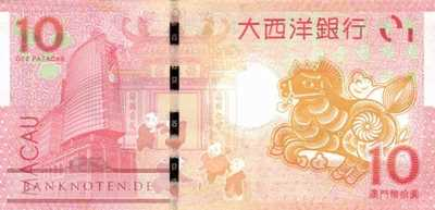 Macao - 10  Patacas - year of the horse (#087_UNC)