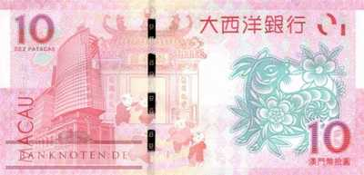 Macao - 10  Patacas - year of the goat (#088_UNC)