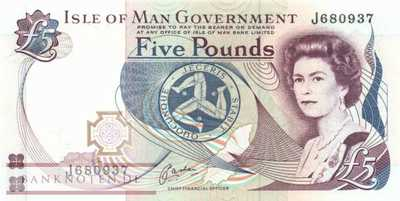 Isle of Man - 5  Pounds (#041b_UNC)