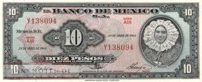Mexico - 10  Pesos (#058j-AIR_UNC)