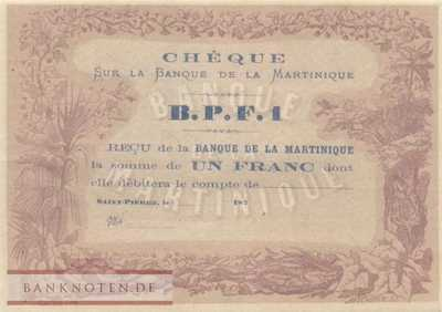 Martinique - 1  Franc (#005A_UNC)