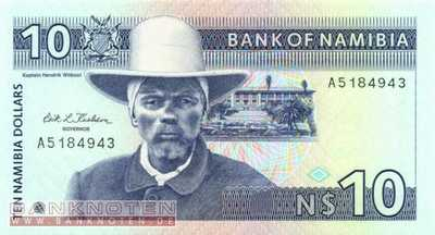 Namibia - 10  Namibia Dollars (#001a_UNC)