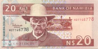 Namibia - 20  Namibia Dollars (#006a_UNC)
