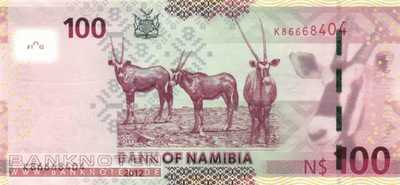 Namibia - 100  Namibia Dollars (#014a_UNC)