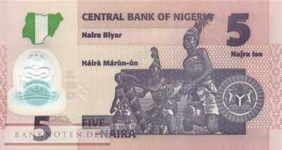 Nigeria - 5  Naira - Replacement (#038iR_UNC)