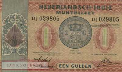 Netherlands Indies - 1  Gulden (#108_VF)