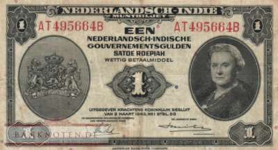 Netherlands Indies - 1  Gulden (#111a_F)