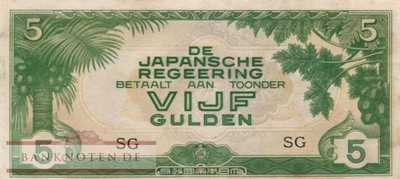 Netherlands Indies - 5  Gulden (#124c_XF)