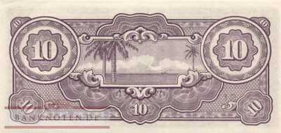 Netherlands Indies - 10  Gulden (#125c_AU)