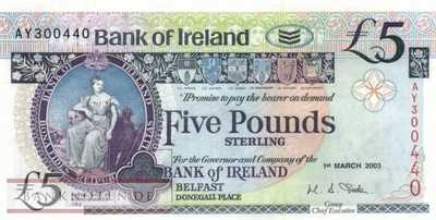 Northern Ireland - 5  Pounds (#079a_UNC)