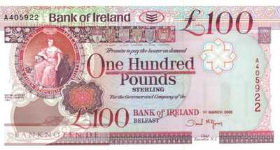 Northern Ireland - 100  Pounds (#082_UNC)