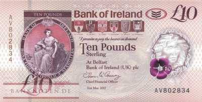 Northern Ireland - 10  Pounds (#091_UNC)