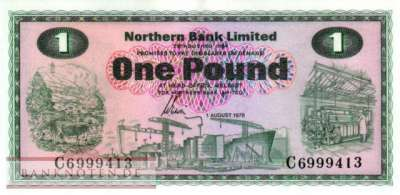 Northern Ireland - 1  Pound (#187c_UNC)