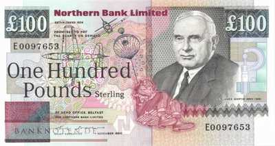 Northern Ireland - 100  Pounds (#197_UNC)