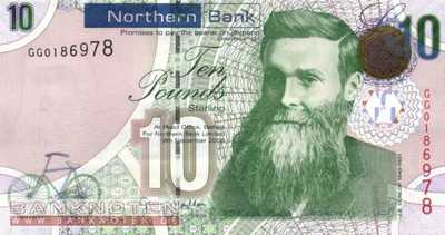 Northern Ireland - 10  Pounds (#210_UNC)