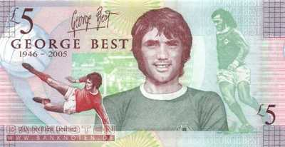 Northern Ireland - 5  Pounds - George Best (#339_UNC)