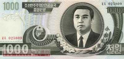 Korea North - 1.000  Won (#045a_UNC)