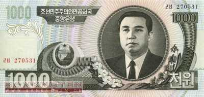 Korea North - 1.000  Won (#045b_UNC)