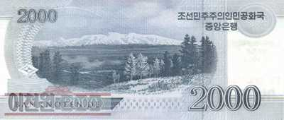 Korea North - 2.000  Won - 70 years North Korea (#CS22_UNC)